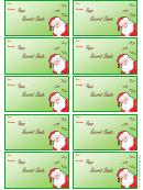 Secret Santa Gift Tag Template