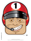Racing Driver Mask Template
