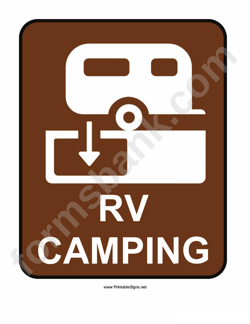picture about Printable Camping Signs titled Rv Tenting Indication printable pdf obtain