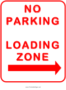 Traffic No Parking In Loading Zone Right