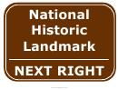 Historic Landmark Right Sign Template