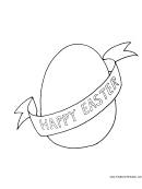 Happy Easter Egg Coloring Sheet