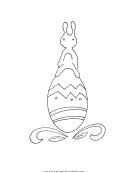 Bunny On An Egg