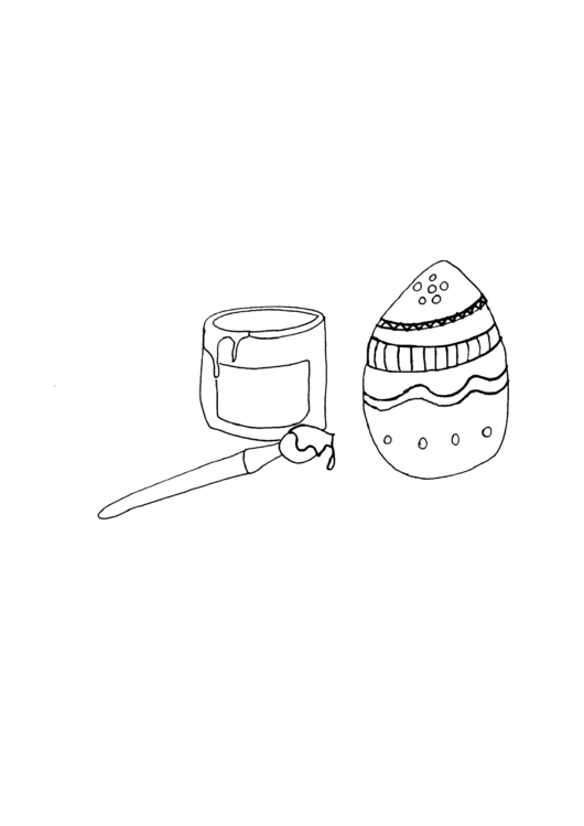Paint And Egg Holiday Coloring Sheets