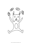Rabbit With Eggs Holiday Coloring Sheets