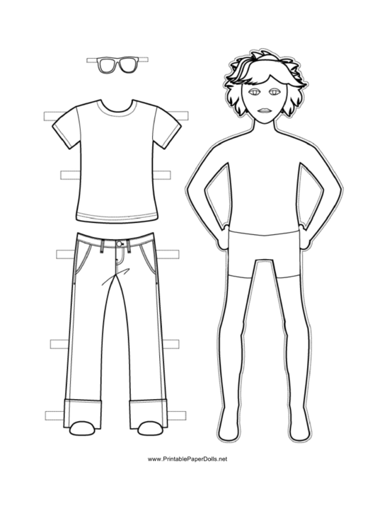 Jeans And Top Paper Doll