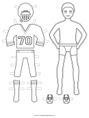 Baseball Paper Doll Coloring Pages