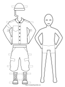 Army Man Paper Doll Coloring Pages