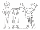 Knight Paper Doll Coloring Pages