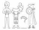 Roman Paper Doll Coloring Pages