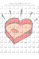Valentine's Day Multiplication Facts (c) Math Worksheet With Answers