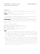 Math 3221 Number Theory - Homework Until Test 2 Worksheet With Answers - Philipp Braun