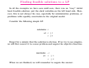 Finding Feasible Solutions To A Linear Programming Worksheet - Columbia University In The City Of New York