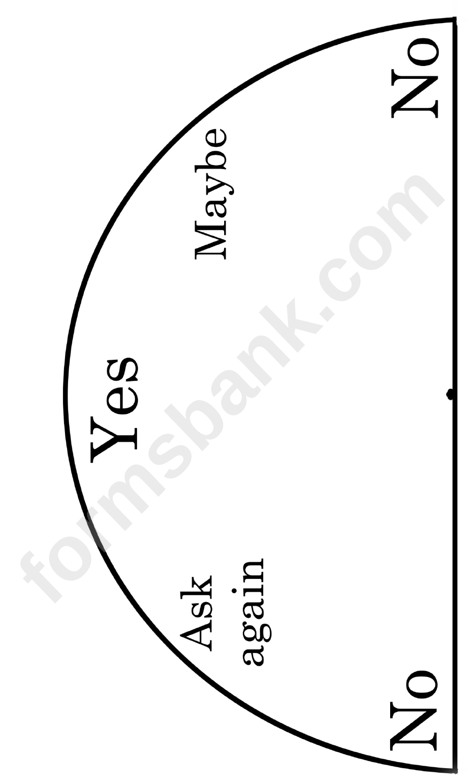 photo regarding Free Printable Pendulum Charts named Certainly Or No Pendulum Chart printable pdf down load