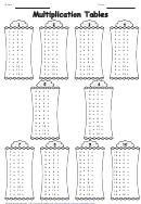 1-10 Multiplication Tables Worksheet