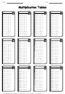 1-12 Multiplication Tables Worksheet