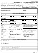 Renewal Regular Passport Application Form (adult)