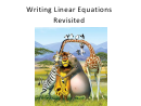 Writing Linear Equations Worksheet With Answers