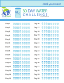 30 Day Water Challenge Chart - Wellaware
