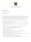 Sample Job Description Template - J.fitzgerald Group, Inc.