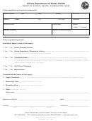 Proof Of School Dental Examination Form - Illinois Department Of Public Health