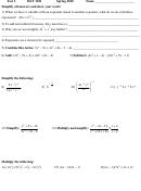 Mat 1101 Test 3 Worksheet - 2010
