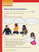 Unit 1 Secret Numbers Pattern Worksheet