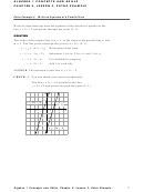 Writing An Equation Of A Parallel Line Worksheet With Answer Key - Algebra 1 Concepts And Skills Chapter 5, Lesson 2