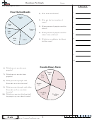 Reading A Pie Graph Math Worksheet With Answers