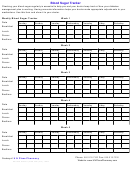 Blood Sugar Tracker Chart