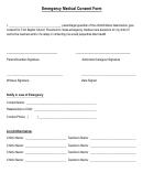 Emergency Medical Consent Form - First Baptist Church Preschool