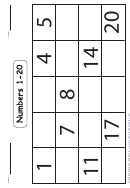 Numbers 1-20 Number Line Worksheet With Answers