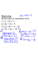 Standard Form On An Equation, Point Slope Form Worksheet With Answers