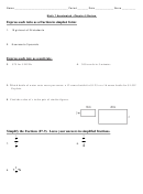 Ratio As A Fraction, Expressing Rate As A Unit, Simplifying Fractions Worksheet - Math 7 Accelerated, Chapter 5