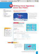 Chapter 5 Lesson 5.3 Writing Linear Equations Given Two Points Worksheet