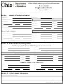 Preschool Registration Form - Ohio Department Of Education