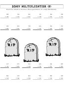 Scary 2-digits Multiplication Worksheet With Answer Key
