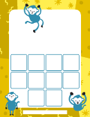 Monkey Sticker Chart