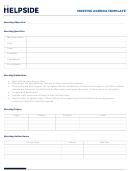 Meeting Agenda Template - Helpside