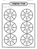 Multiplication Wheels Worksheet For Basic Facts 0-9