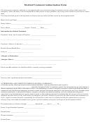 Medical Treatment Authorization Form
