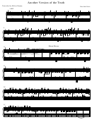 Nine Inch Nails - Another Version Of The Truth Sheet Music