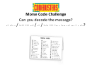 Morse Code Challenge Activity Sheet