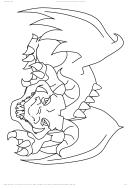 Dragon Coloring Sheet Printable pdf