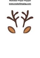 Reindeer Template Printable pdf