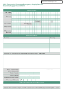 Medicine Supply Record Form - Nhs Community Pharmacy Emergency Supply Service