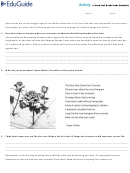 A Rose That Grew From Concrete Analytical Writing Worksheet - Eduguide