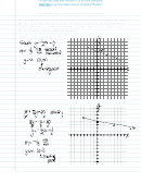 Graphing Lines Using The Slope And Y-intercept Worksheet With Answers