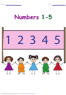 Numbers 1-5 Chart - Color