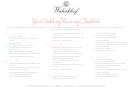 Wedding Planning Checklist - Waterkloof